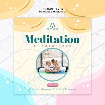 Meditation and mindfulness flyer style