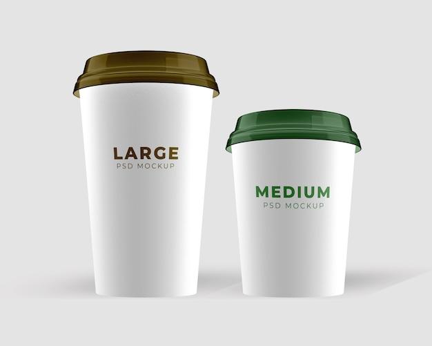 Средний и большой макет чашки