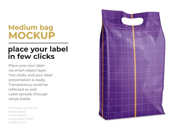 Дизайн макета средней сумки в 3d-рендеринге