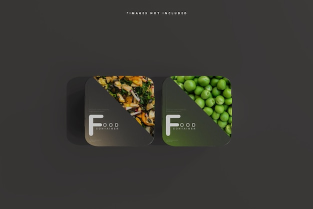 중형 식품 용기 모형