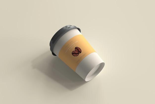 中型紙コーヒーカップモックアップ