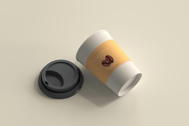 Mockup di tazza da caffè in carta di medie dimensioni