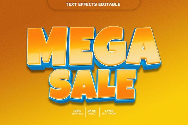 Редактируемый текстовый эффект mega sale 3d