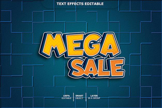 Текстовый эффект 3d mega sale