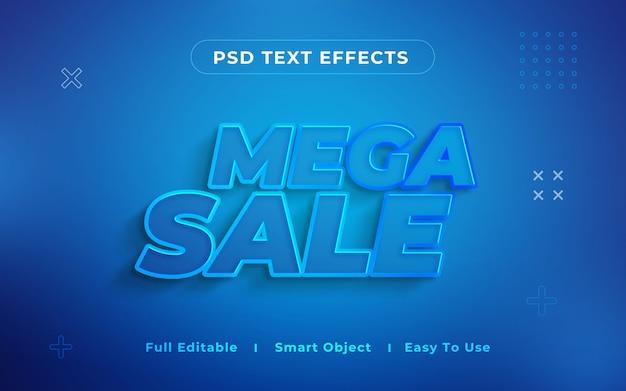 Мега распродажа 3d текстовый эффект