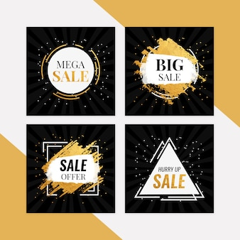 Mega sale banner set