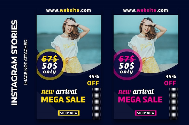 Mega sale fashion instagram stories