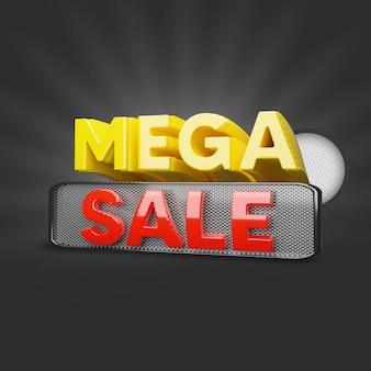 Mega sale offer 3d render