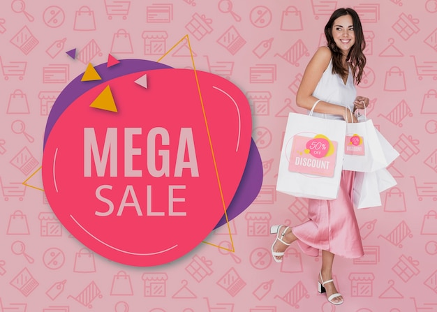 Mega sales available for woman section