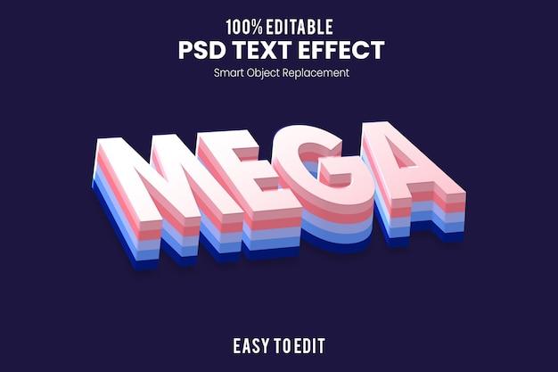 Текстовый эффект mega3d