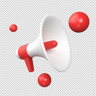 Megaphone 3d illustration rendering