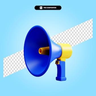Megaphone 3d render illustration isolated