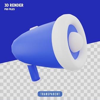 Мегафон 3d рендеринг изолированный премиум