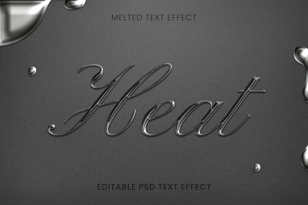 Effetto di testo psd modificabile fuso in stile calligrafico