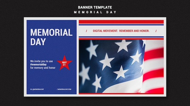 Modello di banner del memorial day