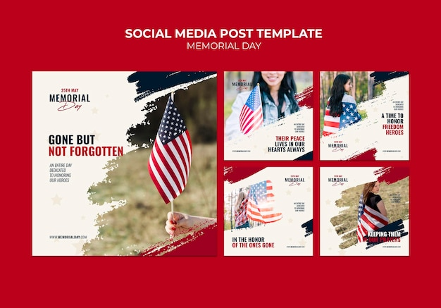 Memorial day instagram post templates