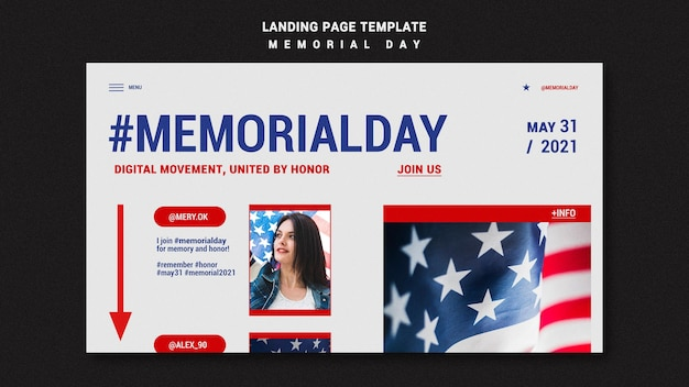 Шаблон целевой страницы дня памяти