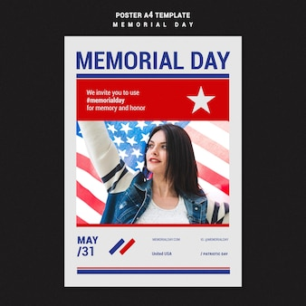 Modello di stampa del memorial day