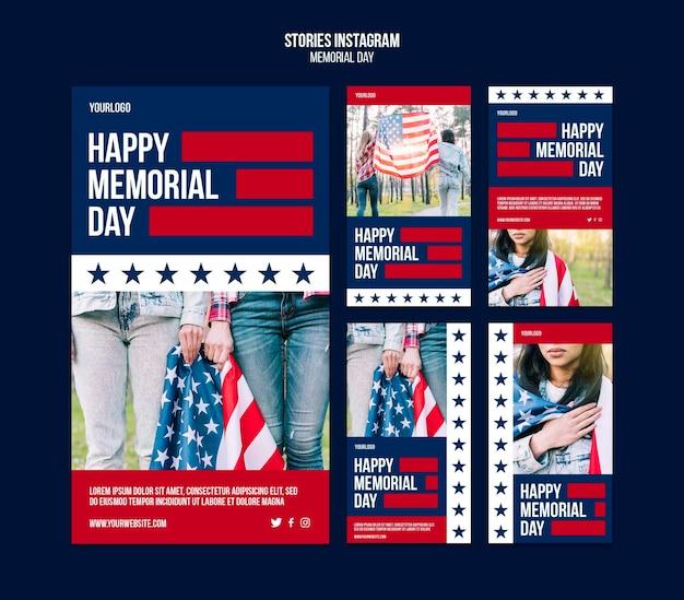 Истории в социальных сетях, посвященные дню памяти