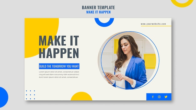 Memphis business ad banner template