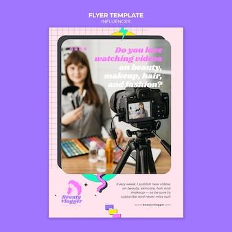 멤피스 스타일 인플 루 언서 인쇄 템플릿 무료 PSD 파일