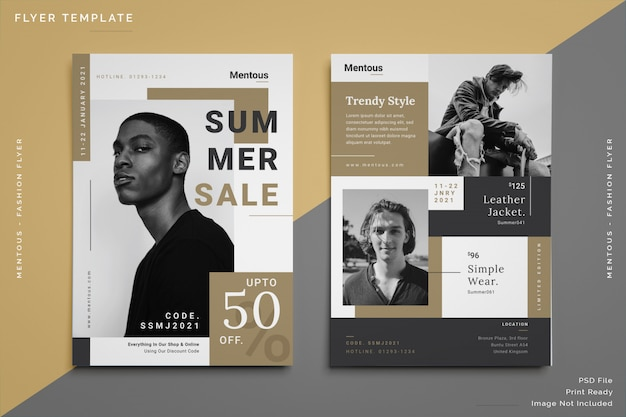 Men fashion flyer template