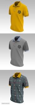 Men's short sleeve polo shirt mockup. front side