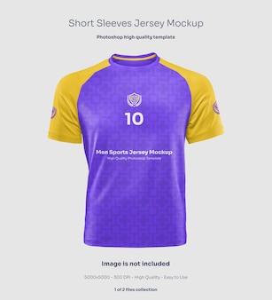 Men short sleeves jersey mockup