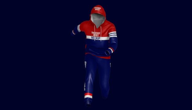 Men sportwear hoodie and pants mockup
