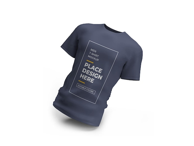 3d 렌더링의 남성 tshirt 목업 디자인