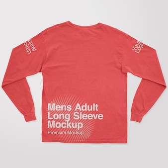 Mens adult longsleeve back mockup