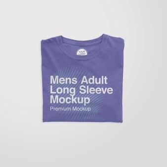 Mens adult longsleeve folded mockup