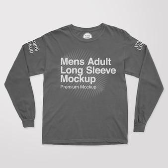 Mens adult longsleeve mockup