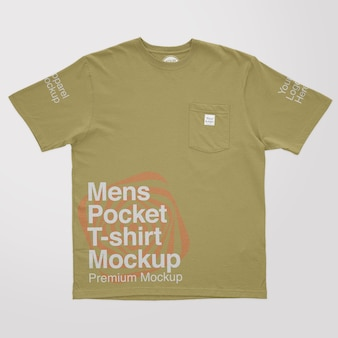 남성용 포켓 티셔츠 모형