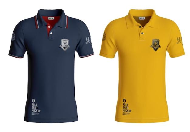 Mens short sleeve polo shirt mockup front side Premium Psd