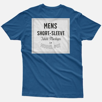 Mens short sleeve t-shirt mockups