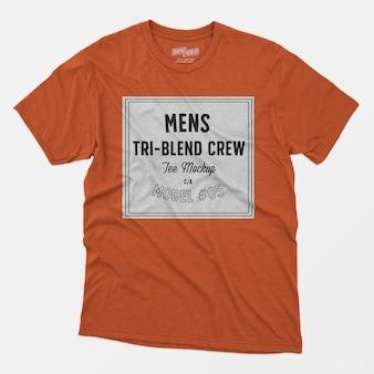 Мужская футболка с тройным рисунком для экипажа 05