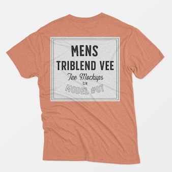 Mens triblend ve tee макет 07