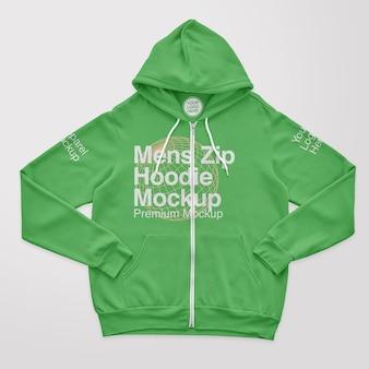 Mens zip hoodie mockup