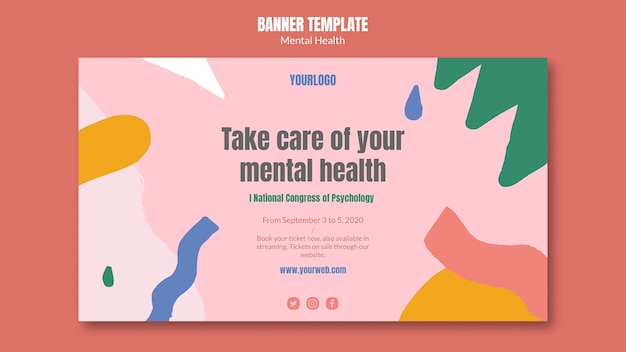 Mental health banner template