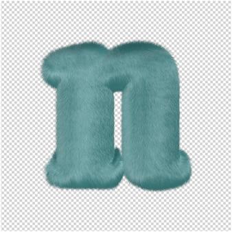 멘톨 모피 편지 3d 렌더링