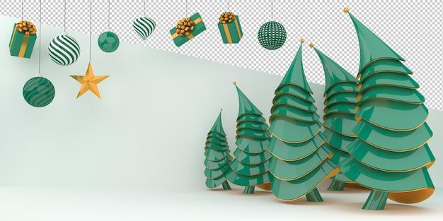 С рождеством и новым годом 3d рендеринг
