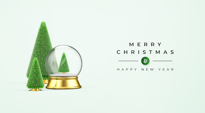 3d 크리스마스 장식으로 메리 크리스마스와 새해 복 많이 받으세요 모형