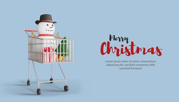 С рождеством и новым годом распродажа рекламный баннер