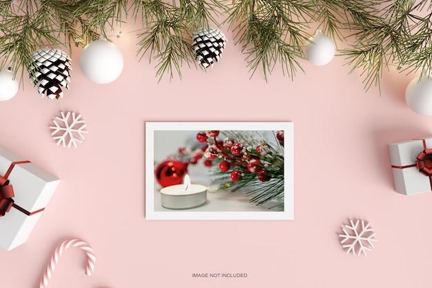 С рождеством христовым макет поздравительной открытки