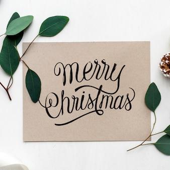 Макет рождественских поздравительных открыток