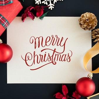 메리 크리스마스 인사말 카드 이랑