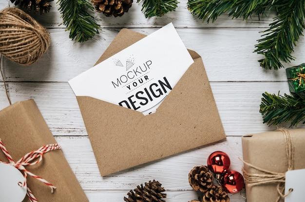 Merry christmas greeting card psd