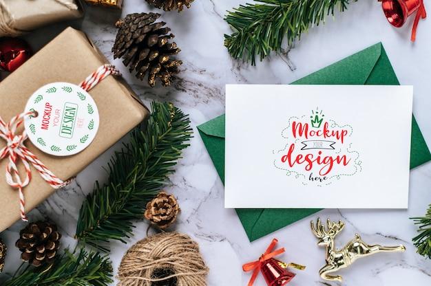 メリークリスマスグリーティングカードpsd