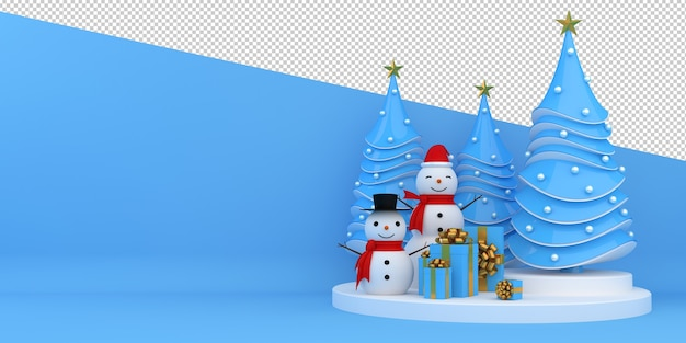 Merry christmas and happy new year 3d rendering